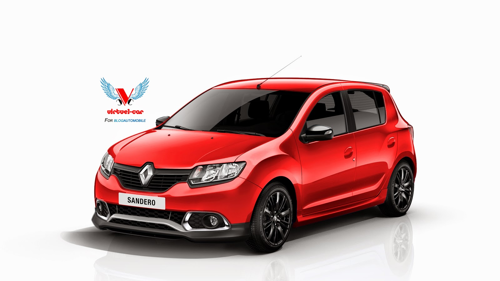 dacia sandero rs wearing renault badges rendered autoevolution. Black Bedroom Furniture Sets. Home Design Ideas