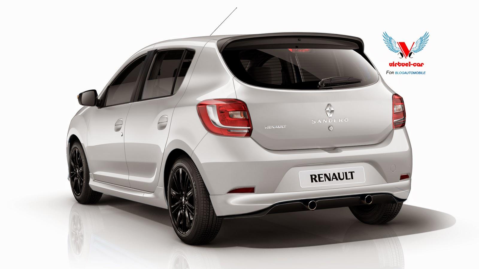 Dacia Sandero RS Wearing Renault Badges Rendered - autoevolution