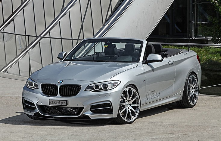 dahler s bmw m235i cabrio has 390 hp and matches the m4 in. Black Bedroom Furniture Sets. Home Design Ideas