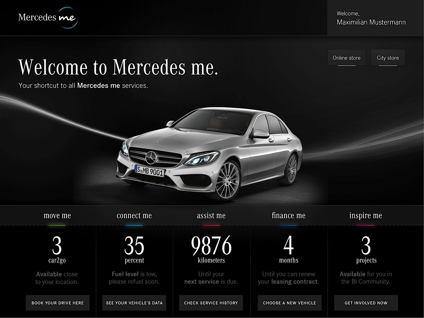 Daimler launches revolutionary mercedes me service brand for A m motors