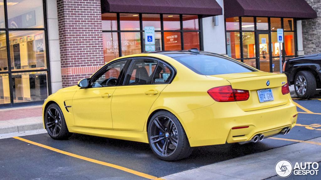 Dakar Yellow BMW F80 M3 Spotted in Kansas autoevolution