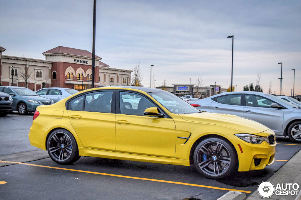 Dakar Yellow Bmw F80 M3 Spotted In Kansas Autoevolution