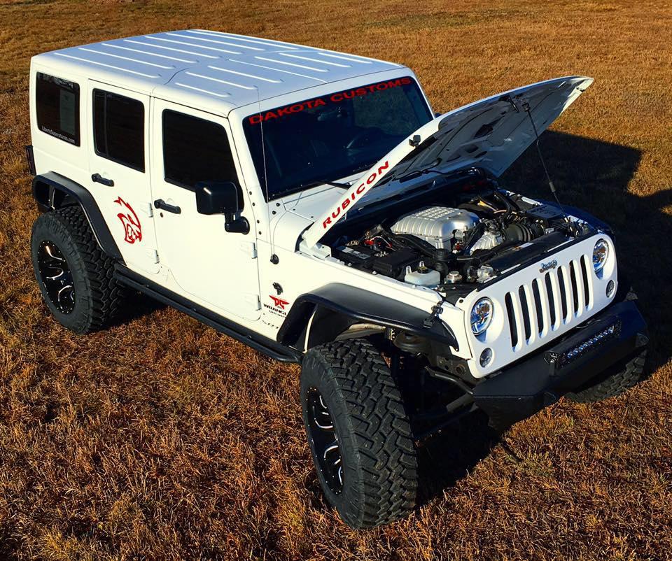 Price Of A Used Jeep Wrangler: Dakota Customs Hellcat Wrangler Conversion Priced At