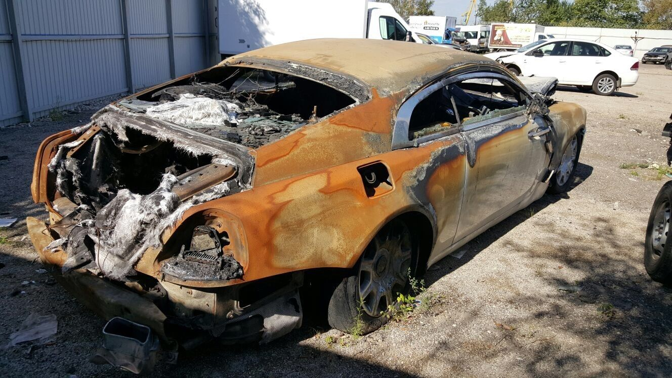 Fire-Damaged Rolls-Royce Wraith Selling for €40,000: Bargain or Just ...