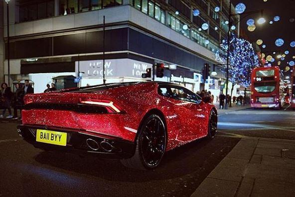 Daria Radionovau0027s Full Swarovski Lamborghini Huracan Wrap Daria Radionovau0027s  Full Swarovski Lamborghini Huracan Wrap