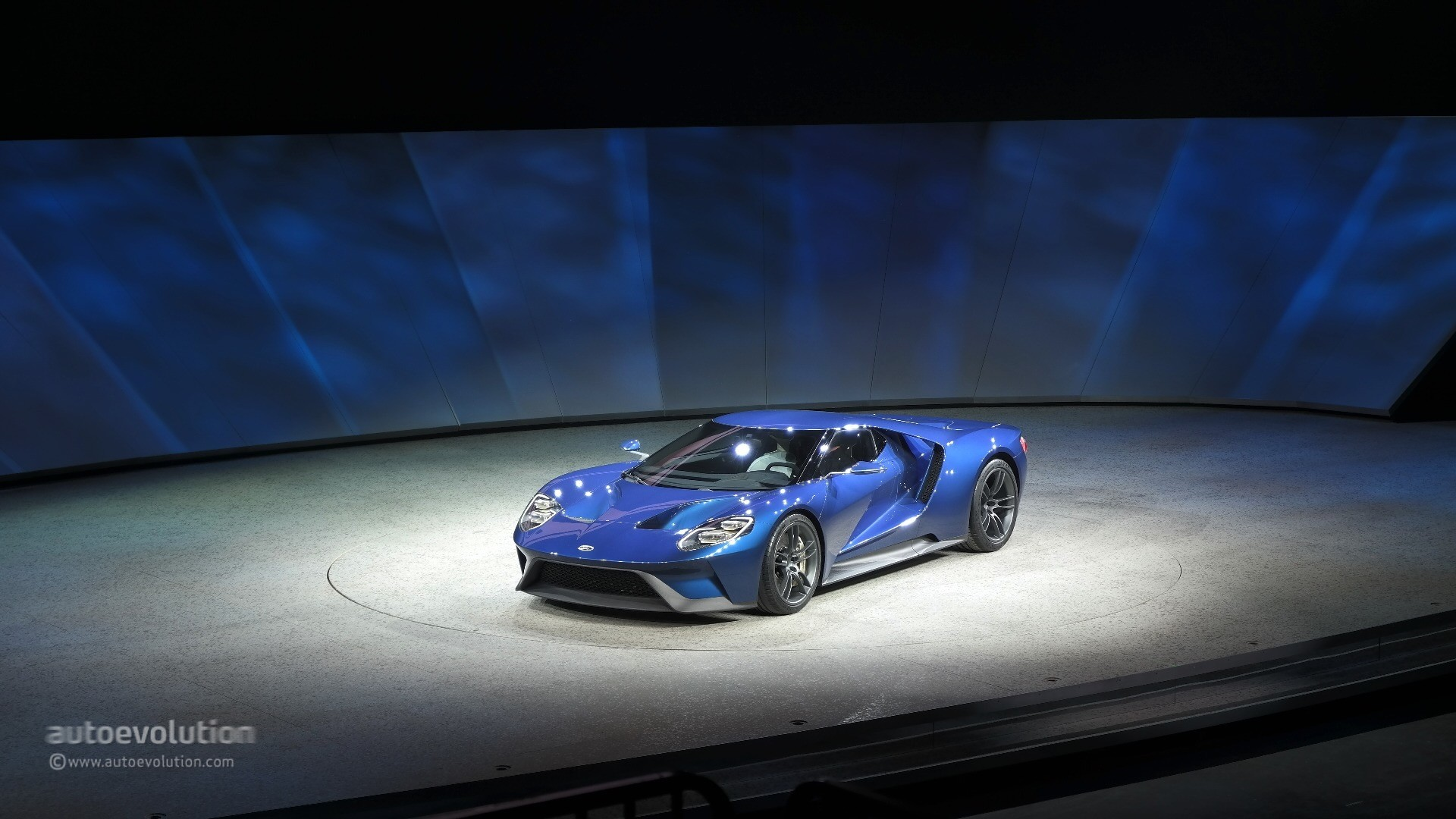 2016 ford gt sport blue wallpaper 2017 ford gt concept car beautiful -  All New Ford Gt Concept Live Photo 2015 Detroit Auto Show