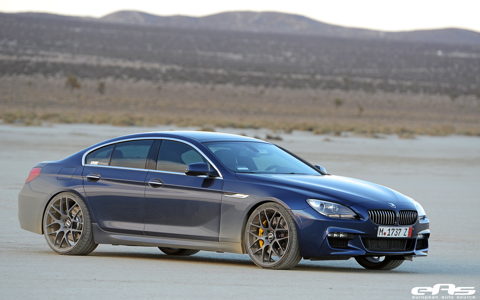 Deep Sea Blue Bmw 6 Series Gran Coupe Rides On 22 Wheels