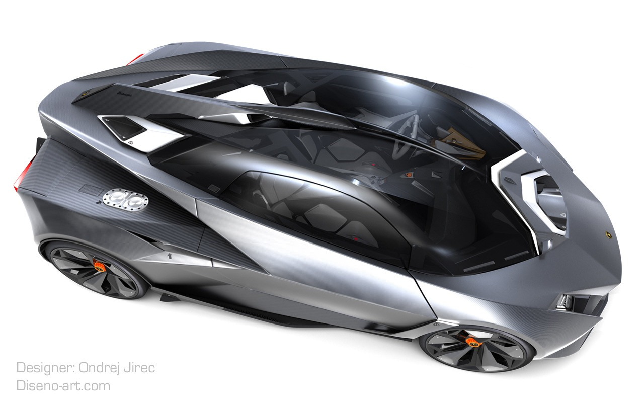 Design Student Creates Jet Fighter Inspired Lamborghini Concept