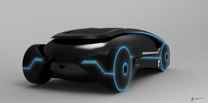 Designer Spawns Electric Tron Car Concept Autoevolution