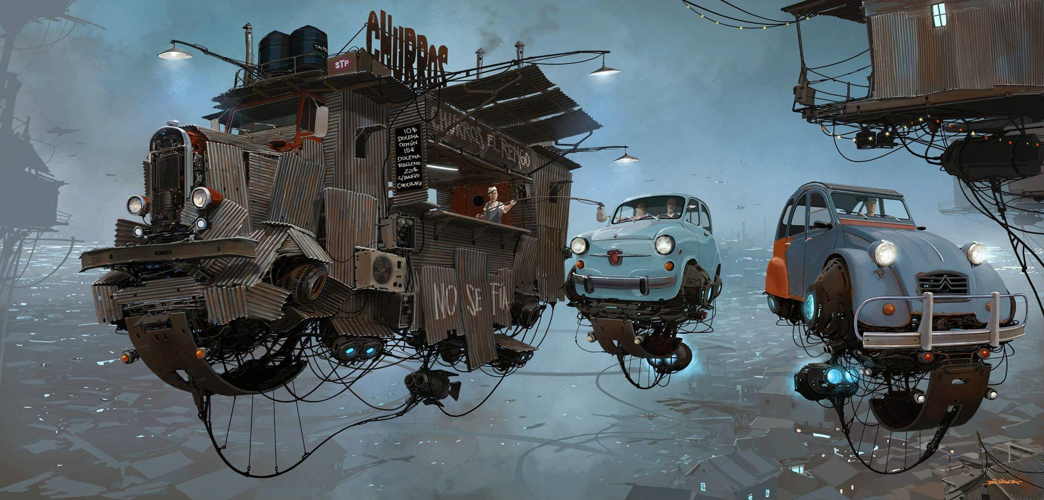 Digital Artist Creates Quot Universe Scrap Quot Where Classic Cars