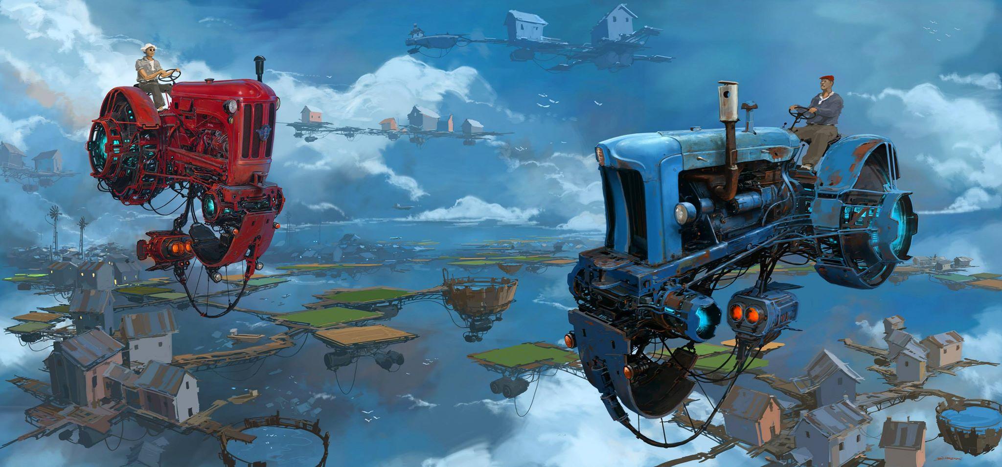 "Digital Artist Creates ""Universe Scrap"" Where Classic Cars"