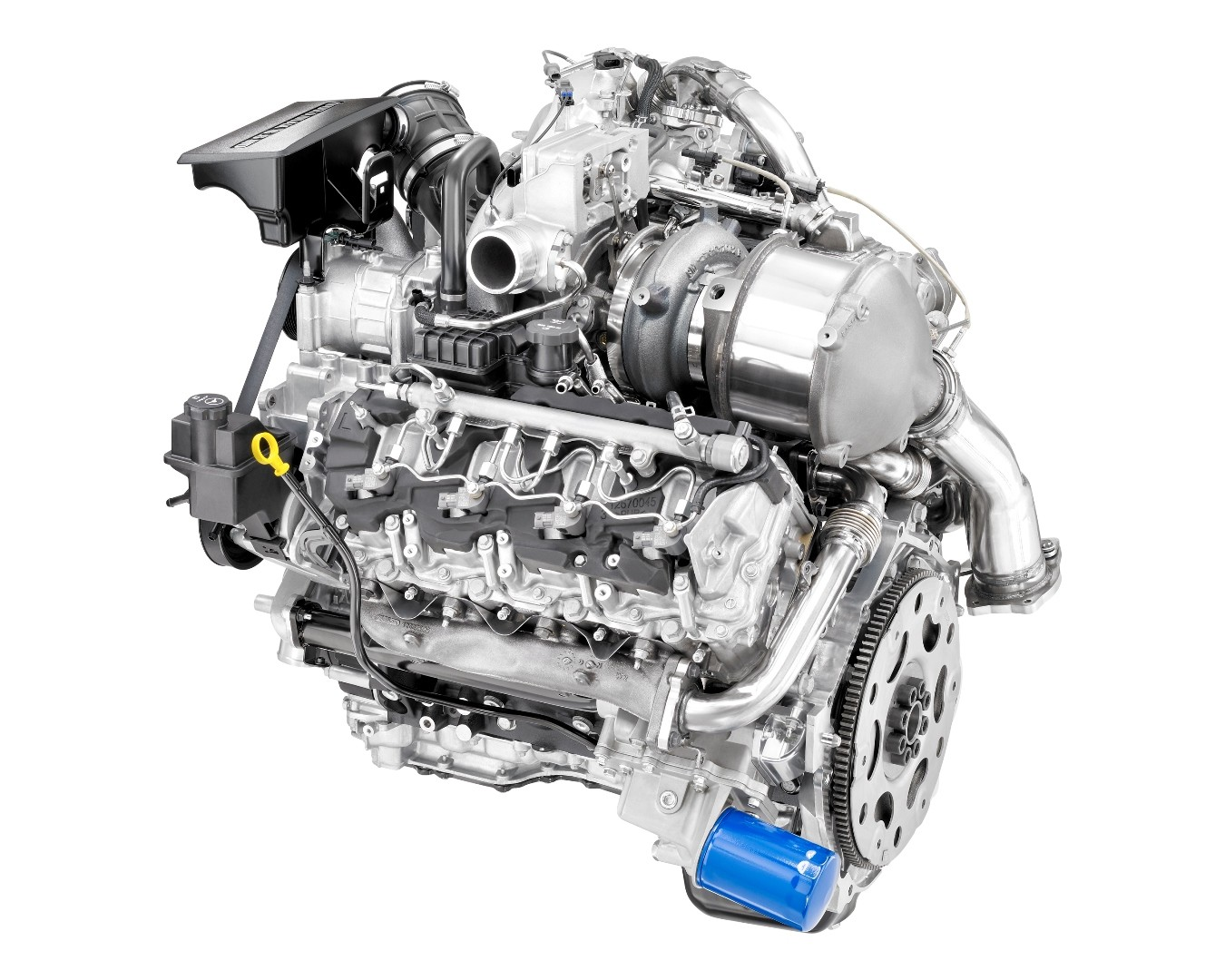 dmax produces the two millionth duramax 6 6l v8 turbo diesel engine rh autoevolution com