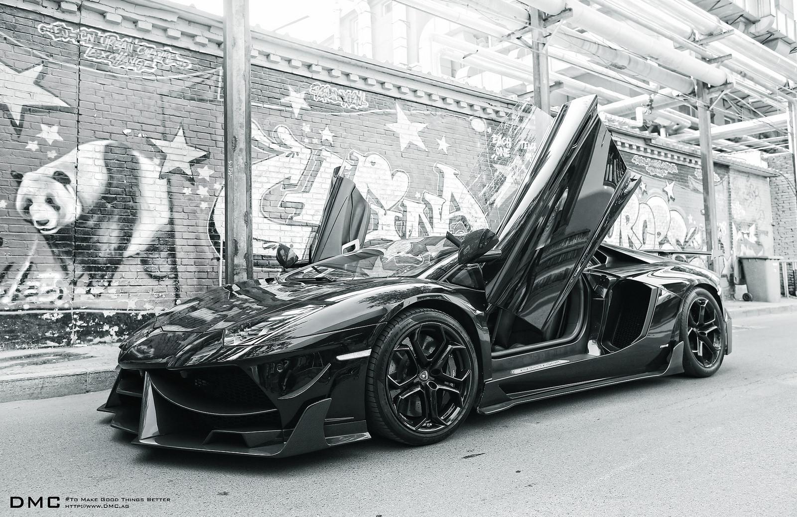 dmc 39 s 1 000 hp lamborghini aventador goes all black autoevolution. Black Bedroom Furniture Sets. Home Design Ideas