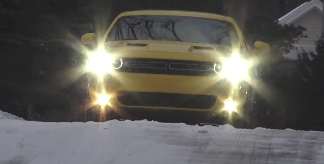 Dodge Challenger Gt Awd Gets Frisky In The Snow