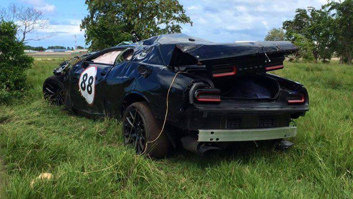 Dodge Challenger Hellcat Looks Flattened After Being