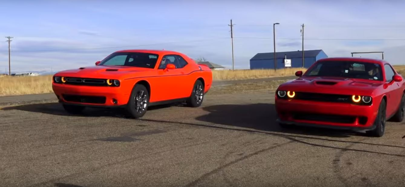 dodge challenger hellcat vs challenger gt awd drag race packs a. Cars Review. Best American Auto & Cars Review