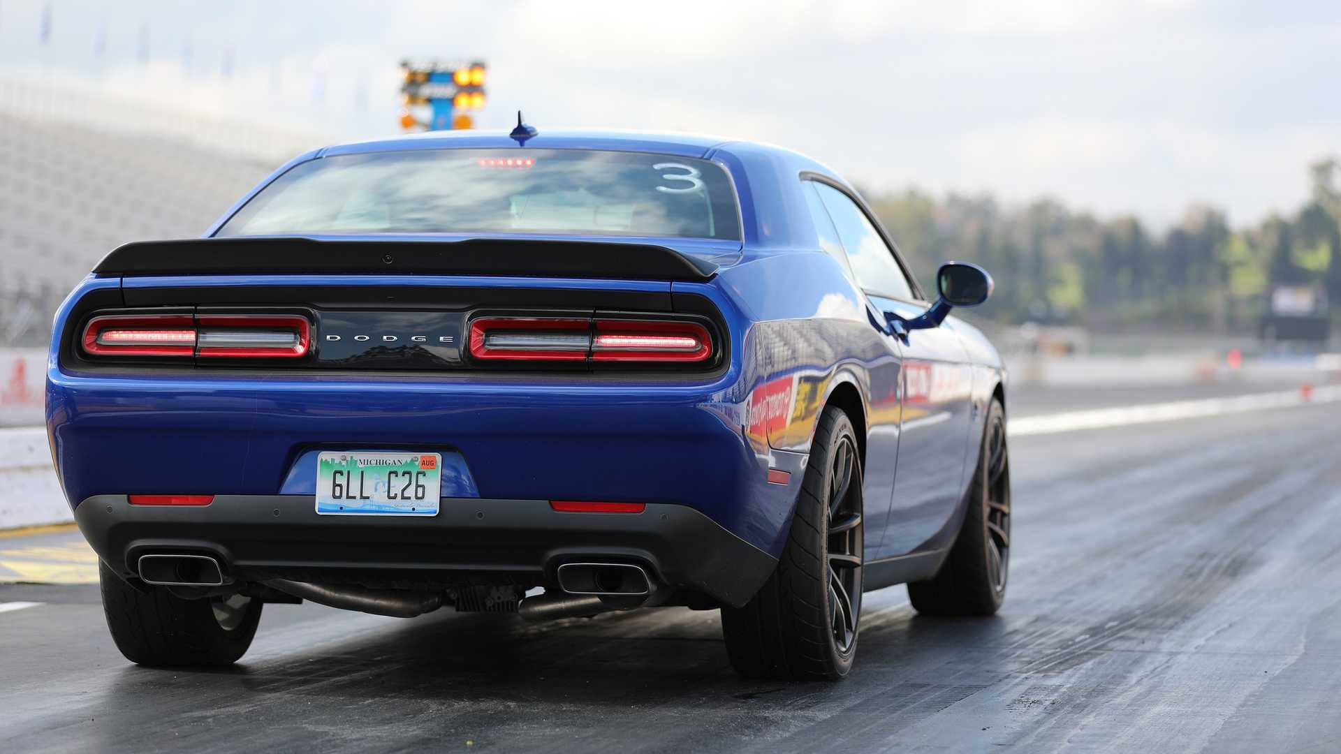 2019 dodge challenger r  t scat pack 1320 is made to race one 1  4-mile at a time