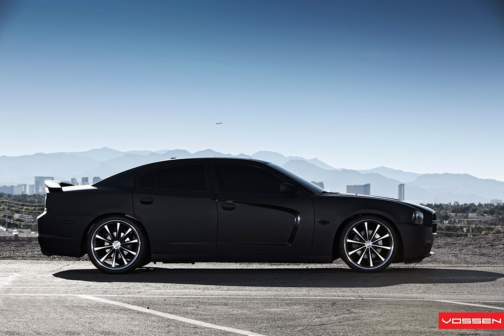 Dodge Charger Gets Matte Black Wrap And Vossen Wheels ...
