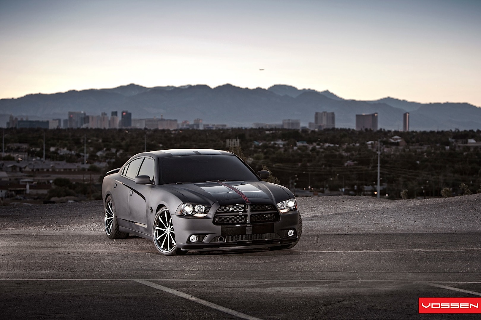 Dodge Charger Gets Matte Black Wrap And Vossen Wheels