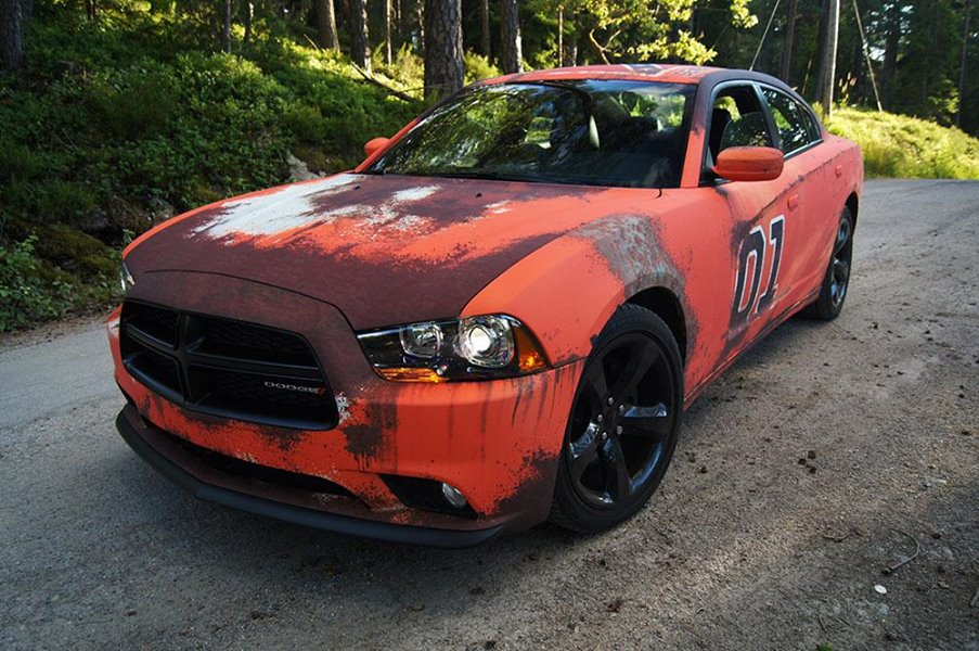 Dodge Charger Gets Rusted General Lee Wrap In Sweden