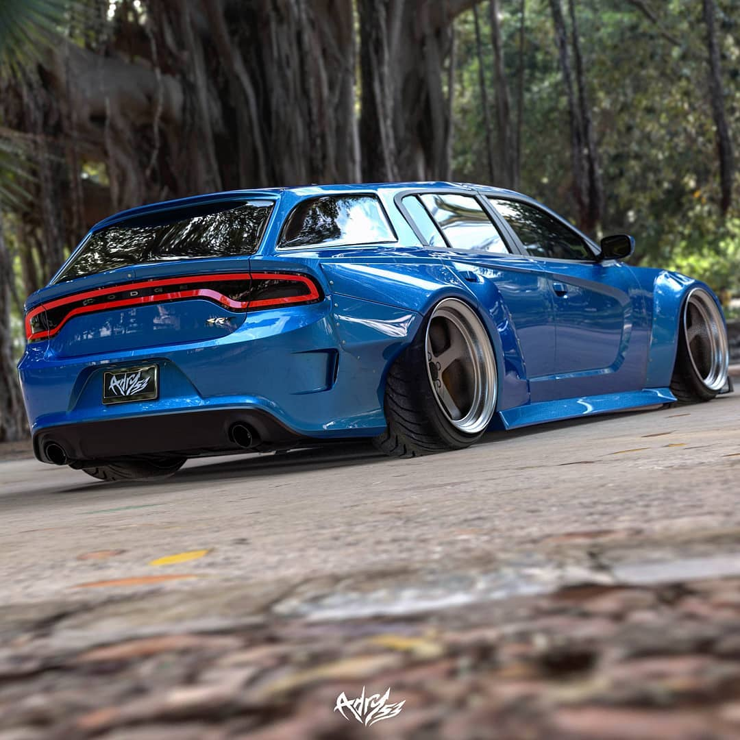 Dodge Charger Hellcat Wagon Looks Like The Widebody Magnum