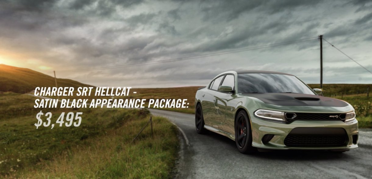 Dodge Charger SRT Hellcat Now Available With Satin Black