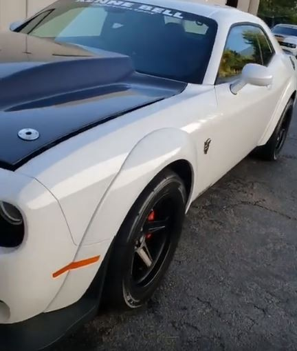 dodge demon gets kenne bell supercharger upgrade new hood. Black Bedroom Furniture Sets. Home Design Ideas