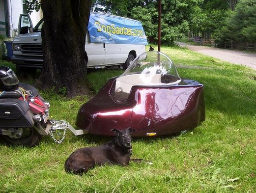 Dog Saucer Motorcycle Trailer Seems Fun - autoevolution