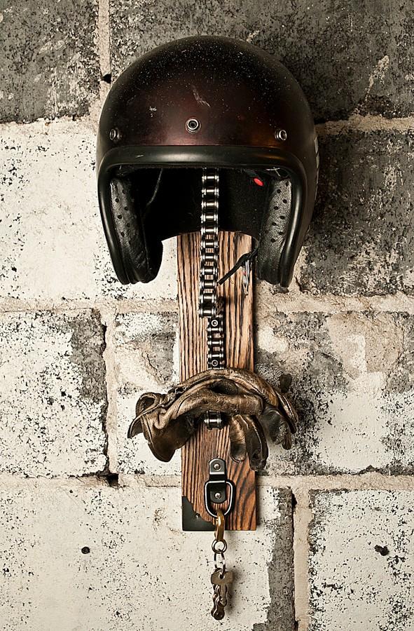 New Nissan Maxima >> Don't Throw Away That Used Chain, Make a DIY Helmet Rack - autoevolution