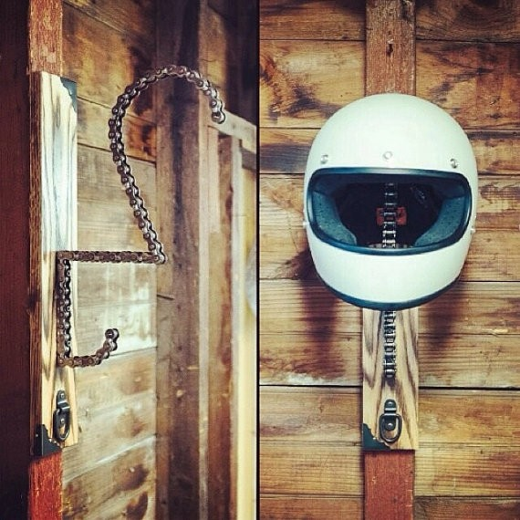Don T Throw Away That Used Chain Make A Diy Helmet Rack