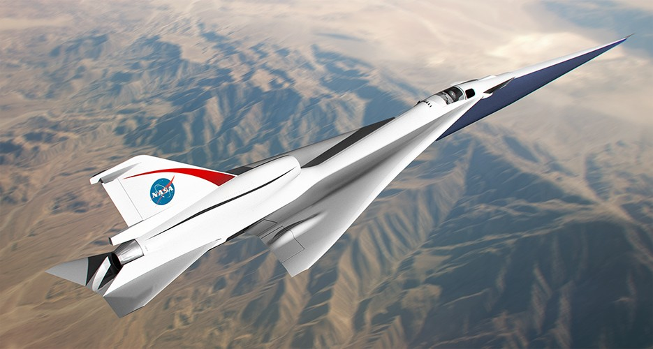 NASA QueSST airplane
