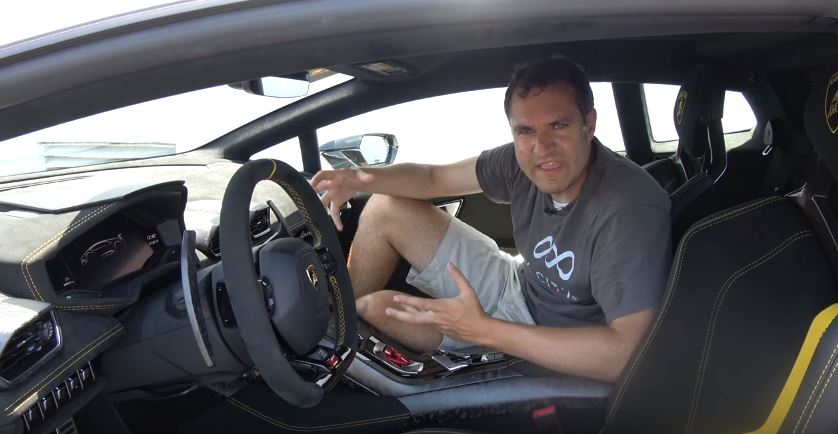 Doug Demuro Uses The Lamborghini Huracan Performante To Play A Song