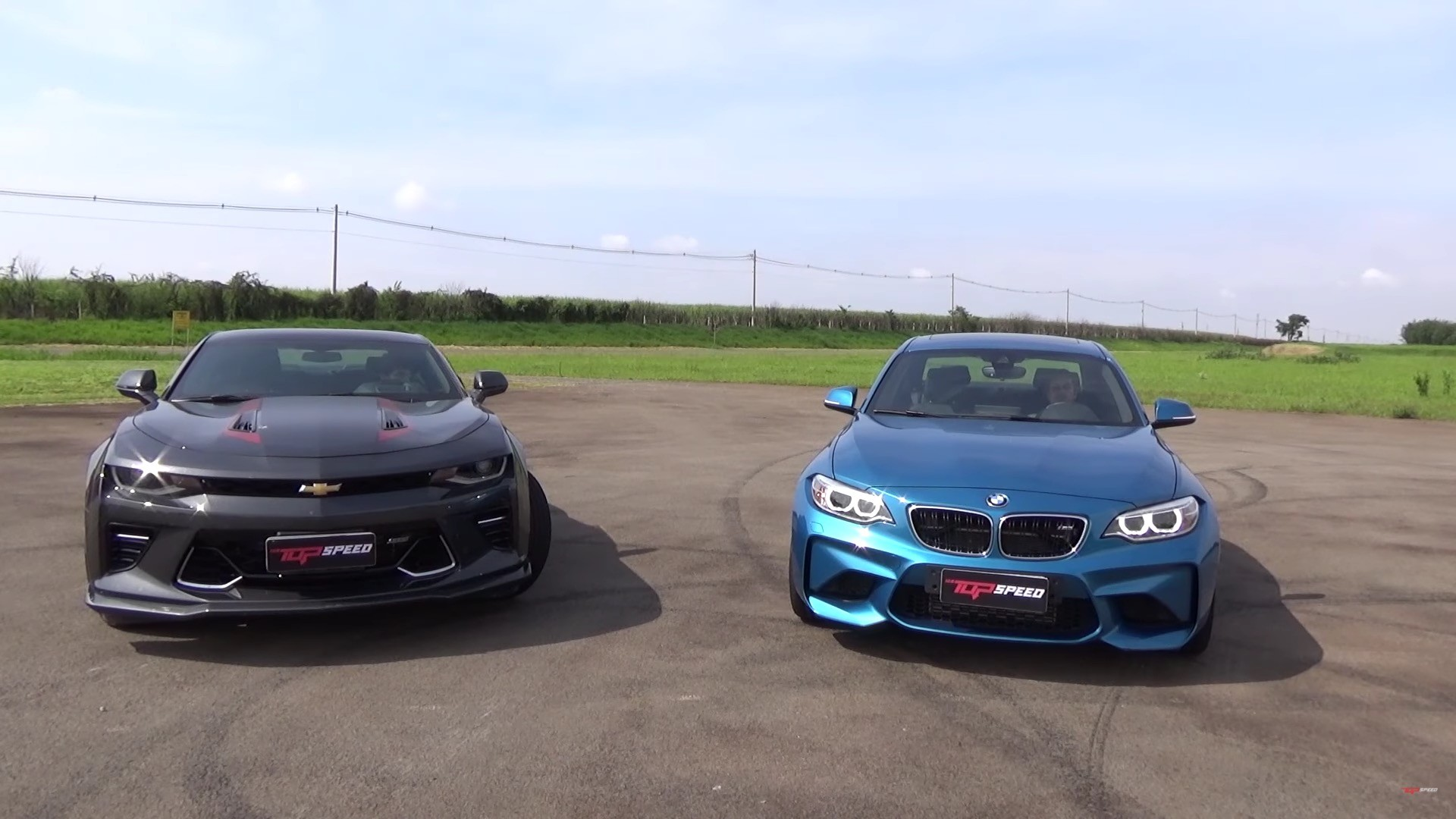 Place Your Bets Bmw M2 Drag Races Chevrolet Camaro Ss