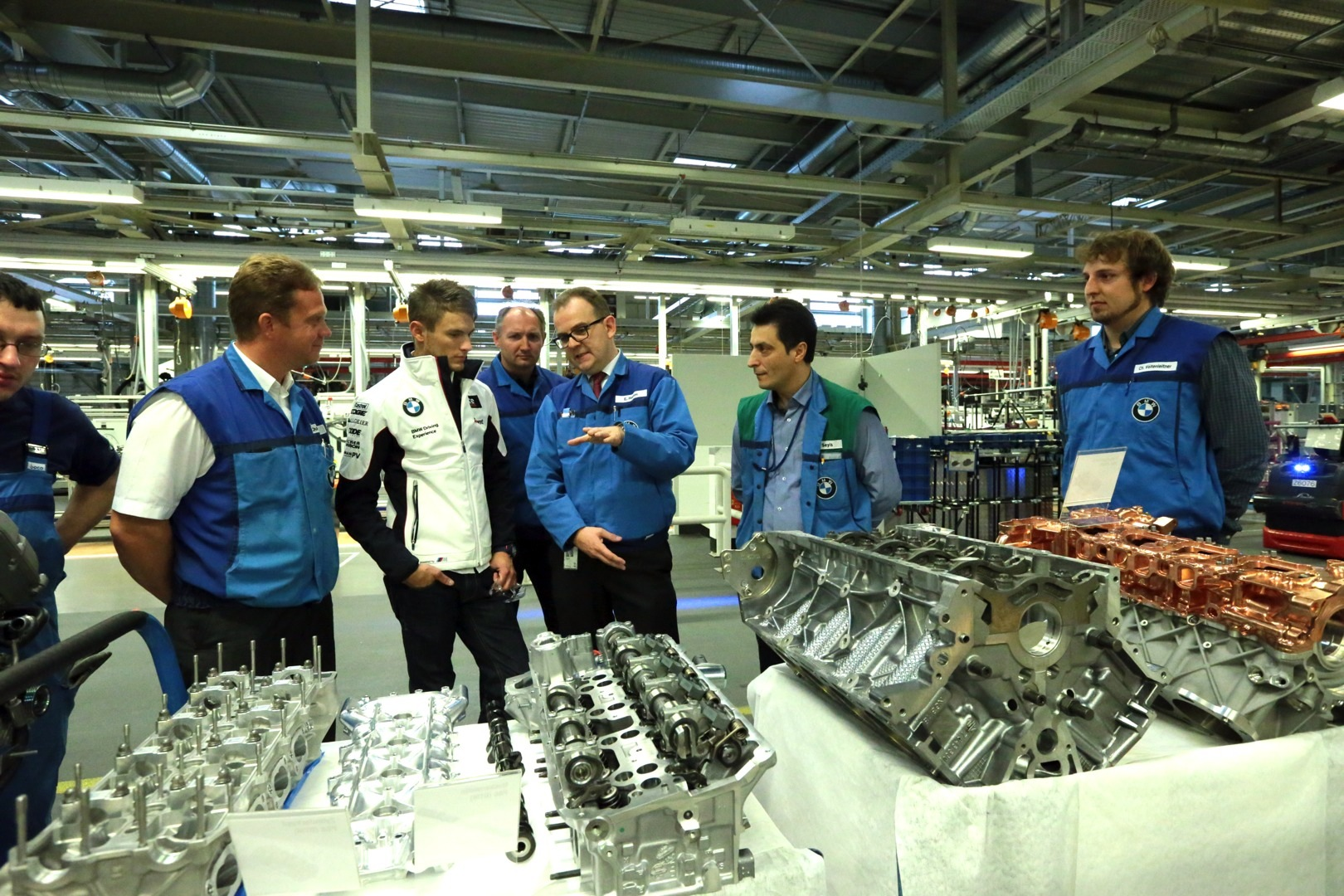 marco wittmann at the bmw plant in munich