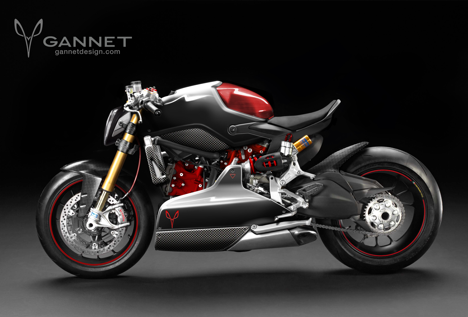 Ducati 1199 Panigale Cafe Fighter By Gannet Design