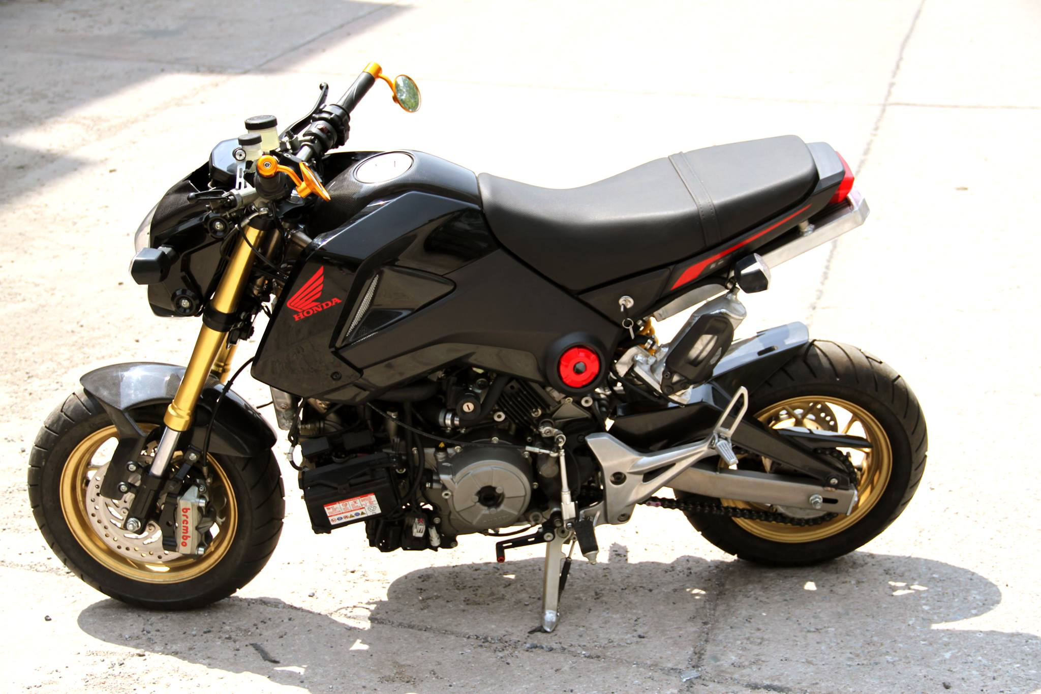 ducati 1199 panigale powered honda grom is as insane as it. Black Bedroom Furniture Sets. Home Design Ideas