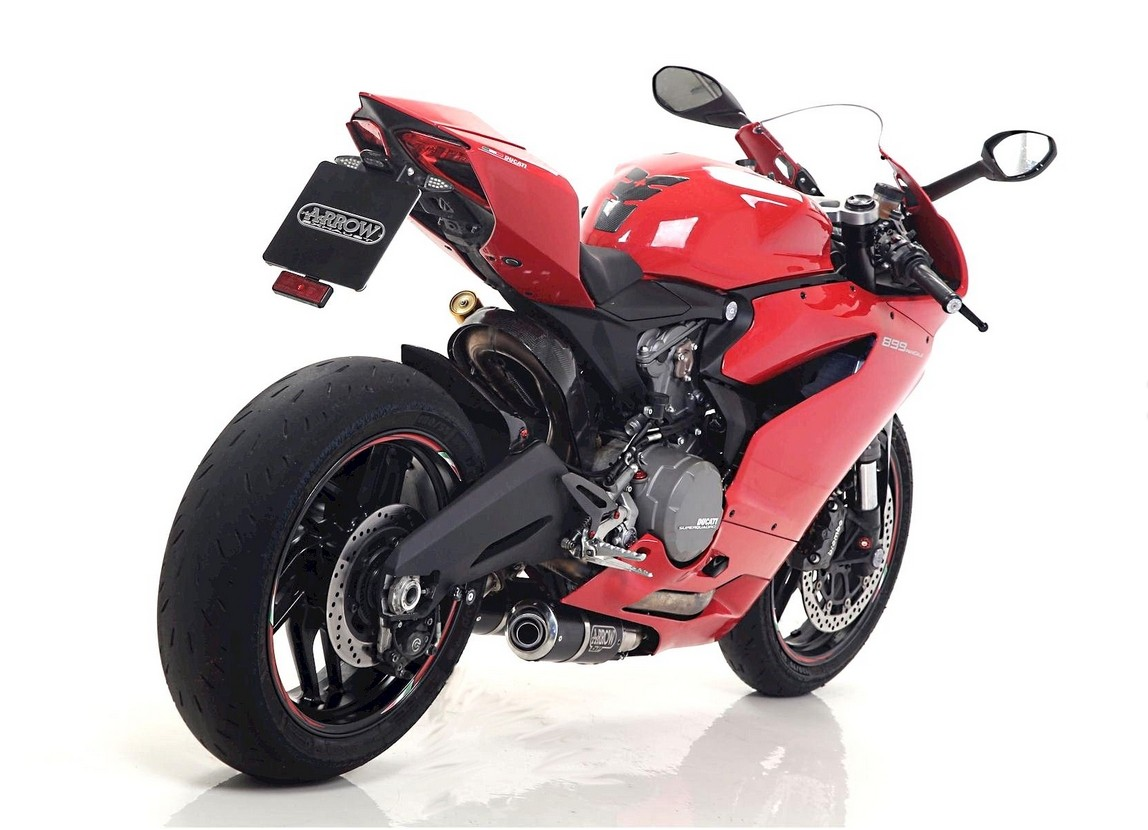 Ducati 899 panigale and 1199 panigale receive racey arrow exhausts autoevolution