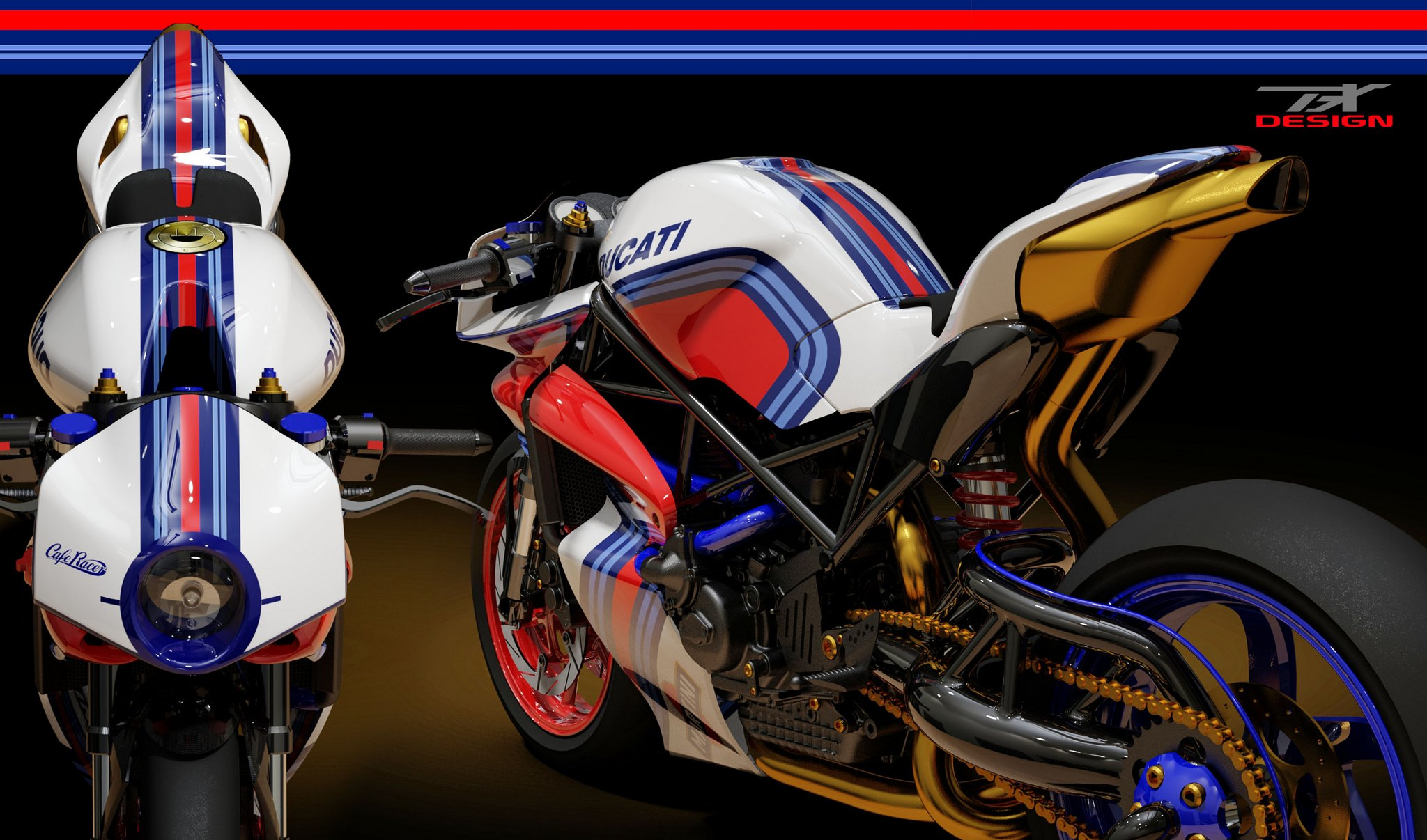 garage bike shop ideas - Ducati Monster Cafe Racer to Die For Rendered by Paolo