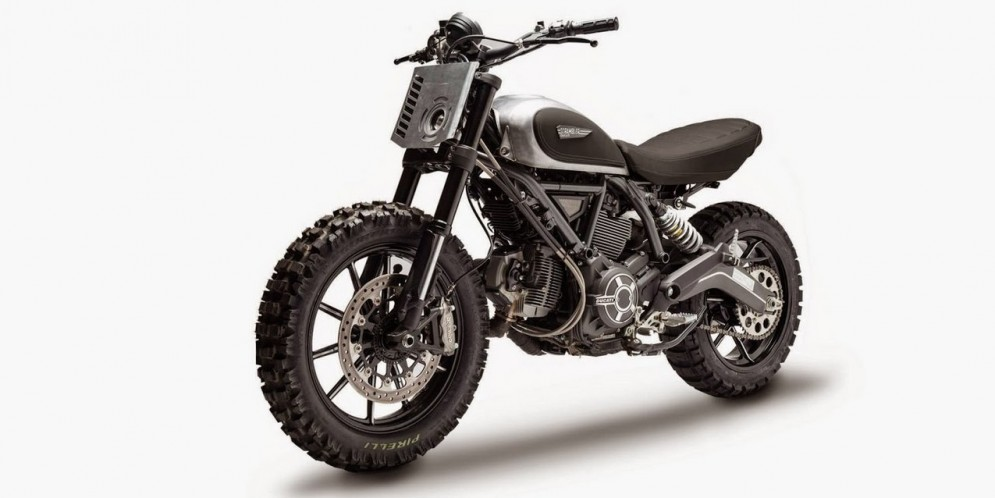 Ducati scrambler dirt track concept is one evil machine autoevolution