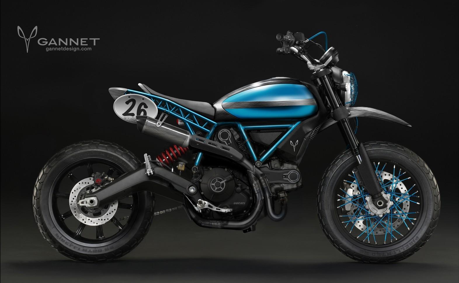 Ducati Scrambler Inspires The Gannet Tracker Autoevolution