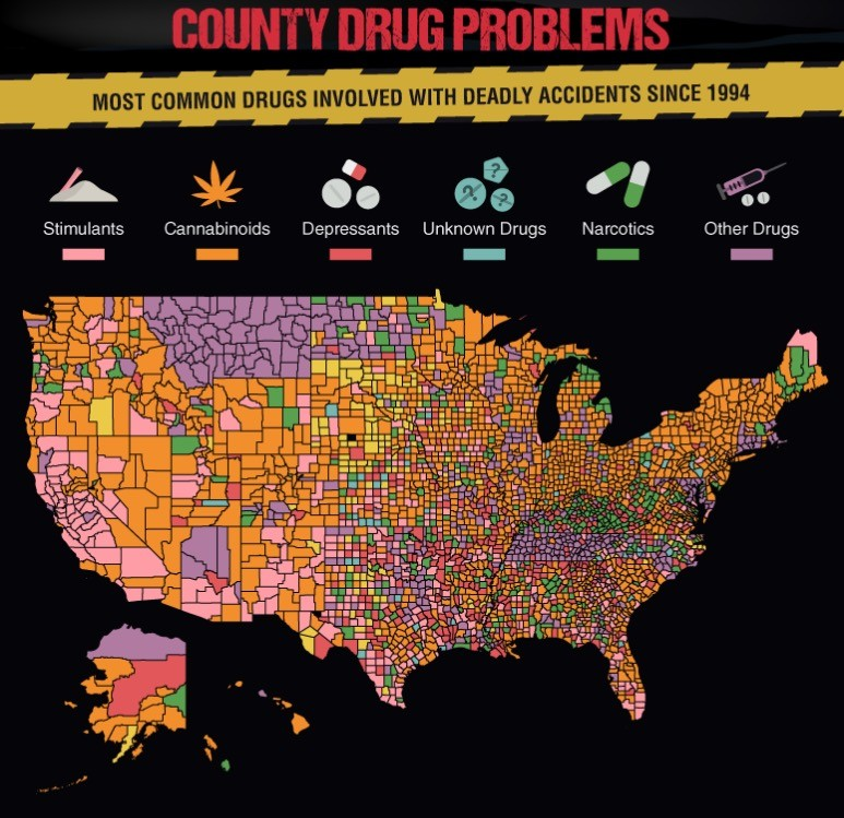 were responsible for one third of traffic deaths in the usa the next year drugged drivers were involved in one fifth of the countrys fatal crashes