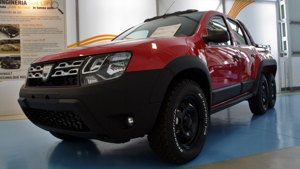dustruck dacia builds duster 6x6 pickup autoevolution. Black Bedroom Furniture Sets. Home Design Ideas