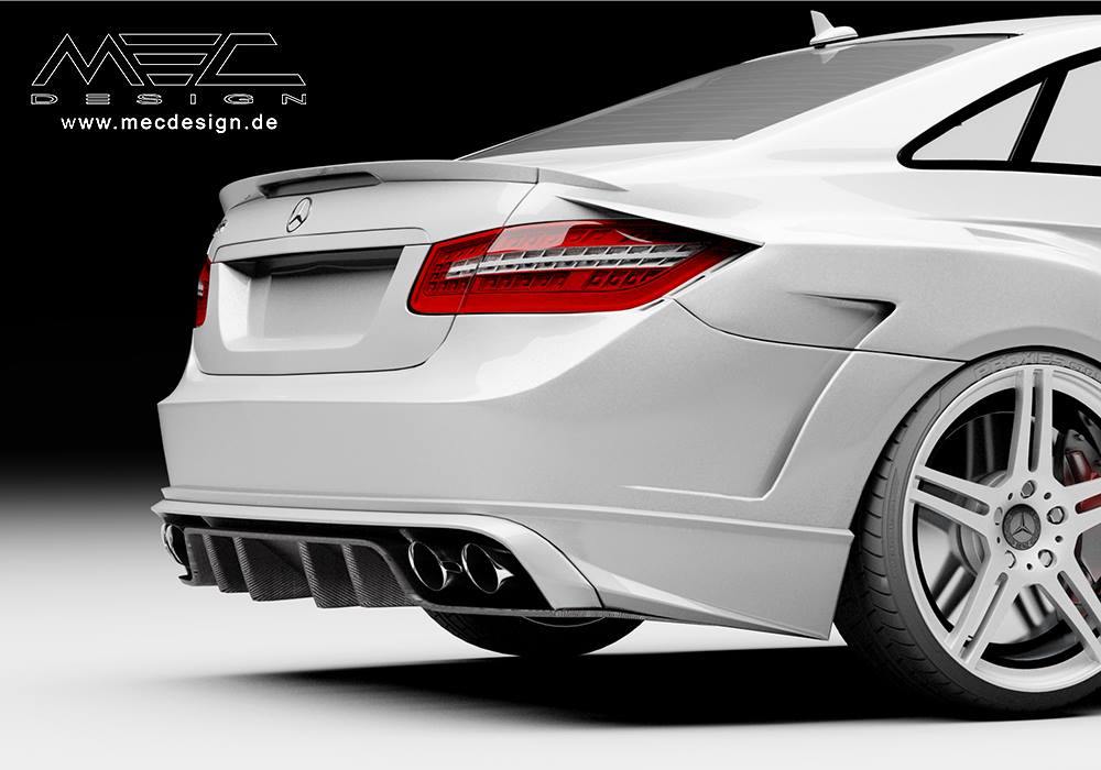 E-Class Coupe C207 Gets A Wide Bodykit From MEC Design