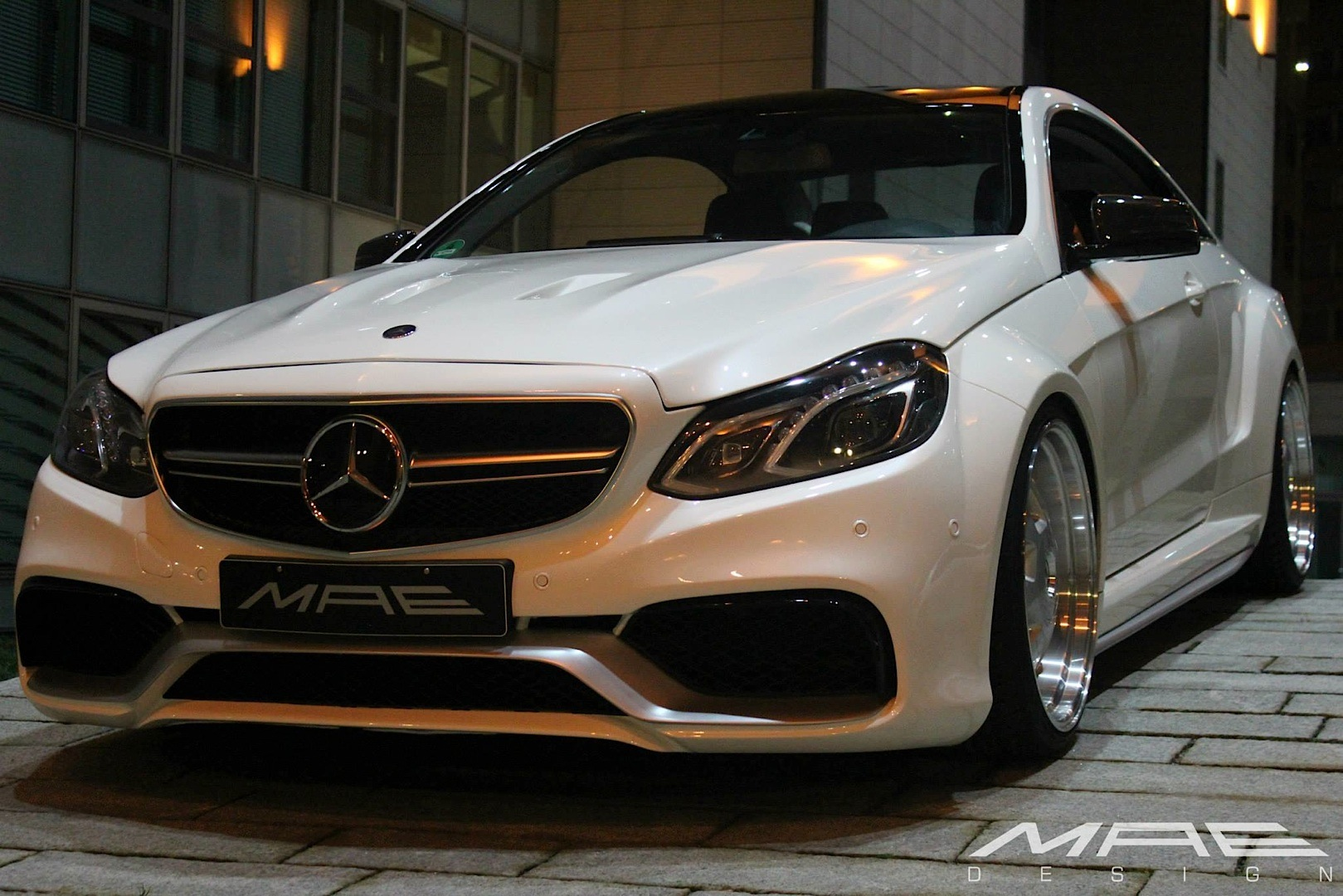 eclass coupe wide bodykit by mae is as clean as a whistle