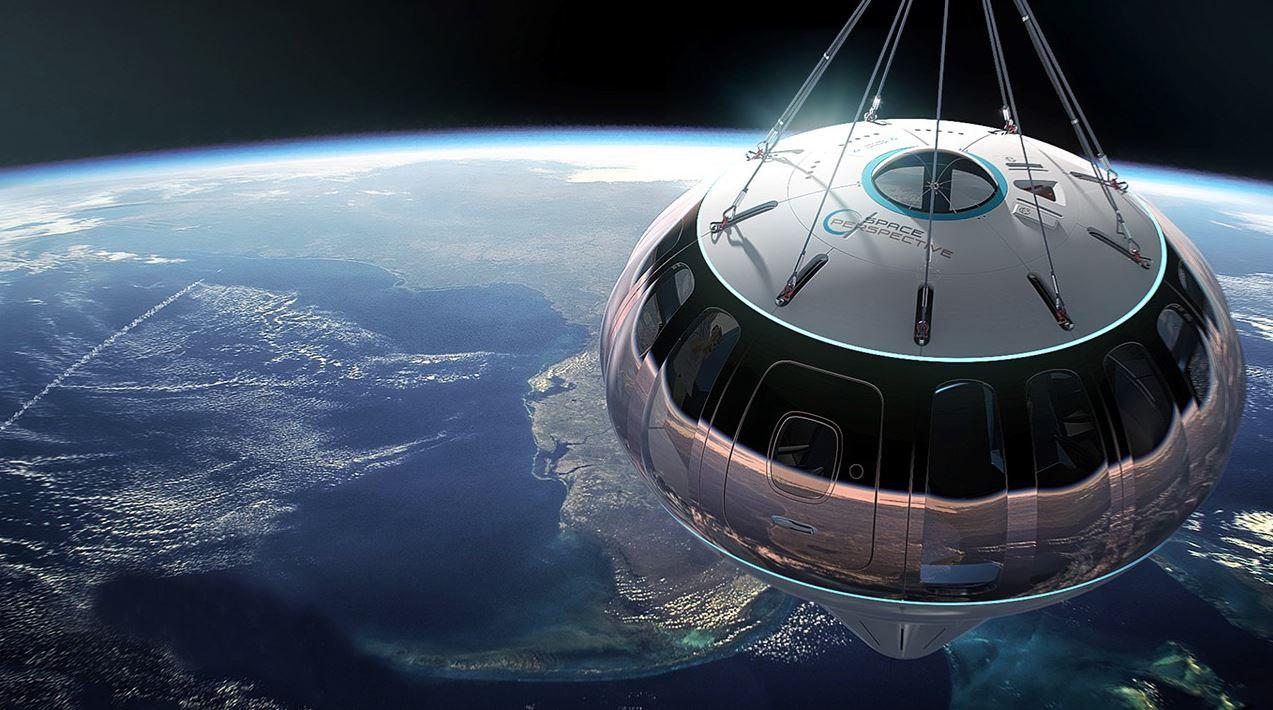 Balloon-borne capsule Spaceship Neptune will take tourists and researchers to the edge of space