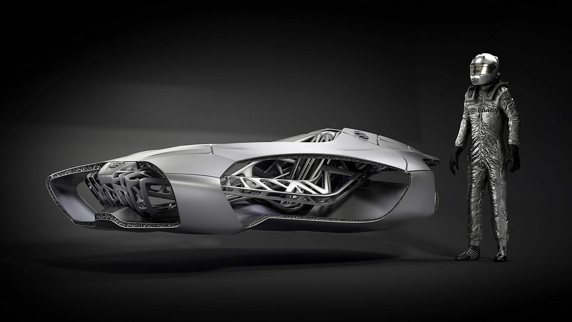 Genesis D Exhibition Design : Edag genesis is a d printed ninja turtle car autoevolution