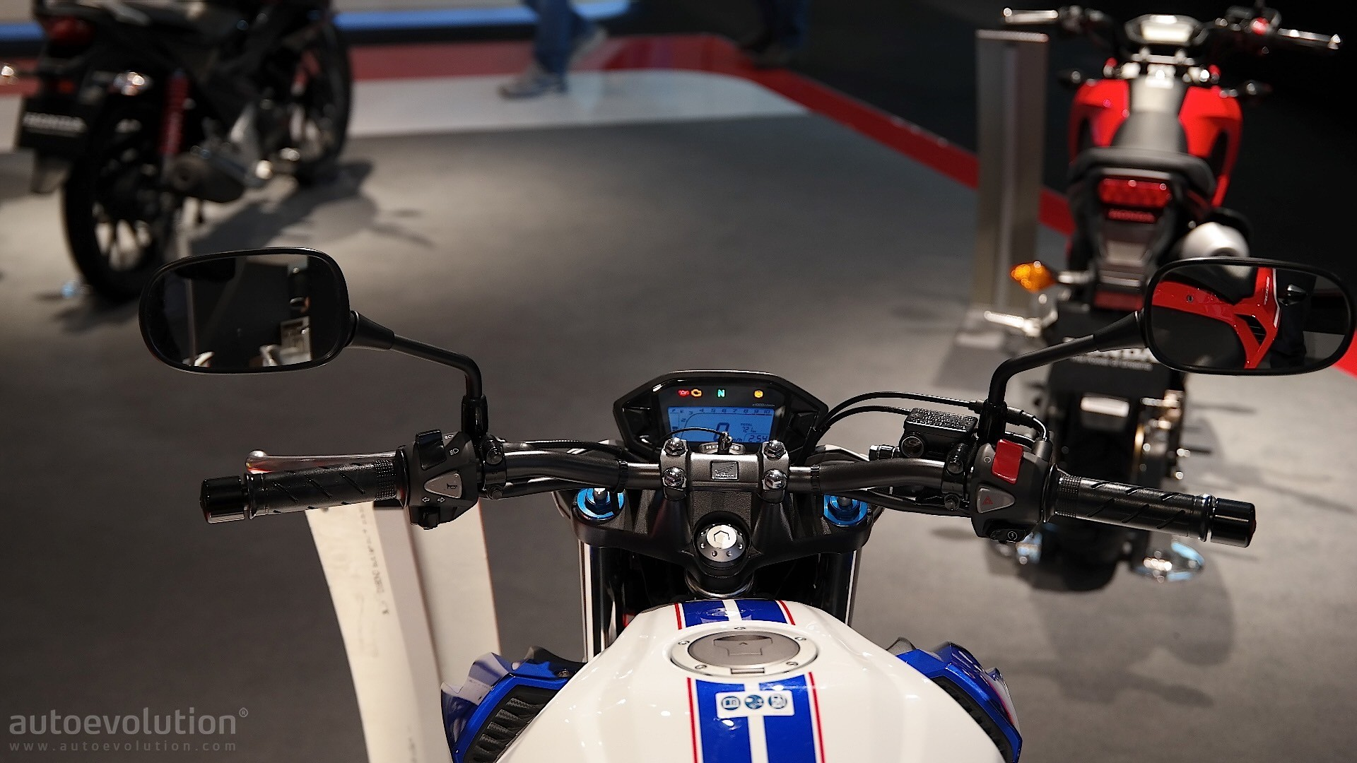Honda CB500F Dashboard At EICMA 2015