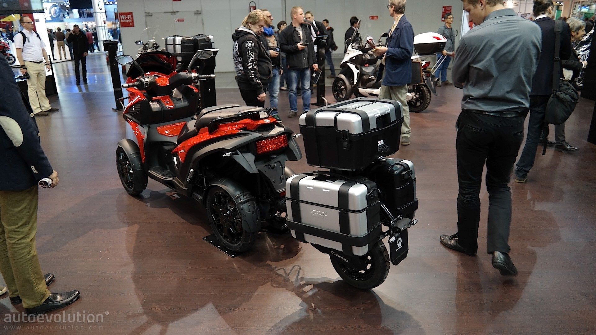 quadro rugged eicma becomes smart autoevolution
