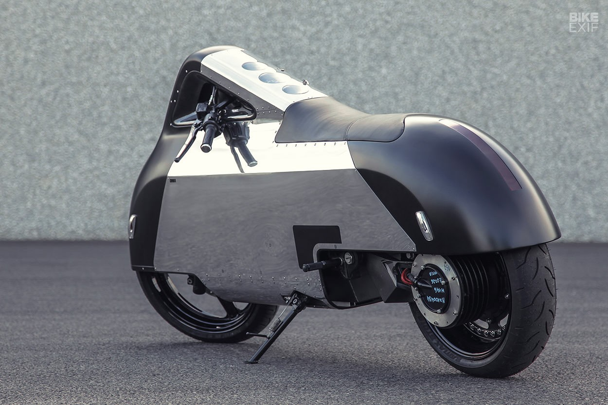 electric custom motorcycle gets inspiration from iphone. Black Bedroom Furniture Sets. Home Design Ideas