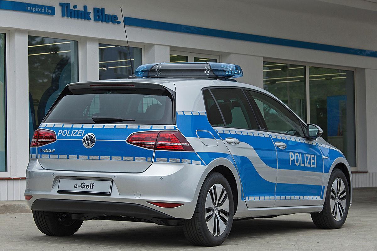 Electric Volkswagen Golf Becomes German Police Car